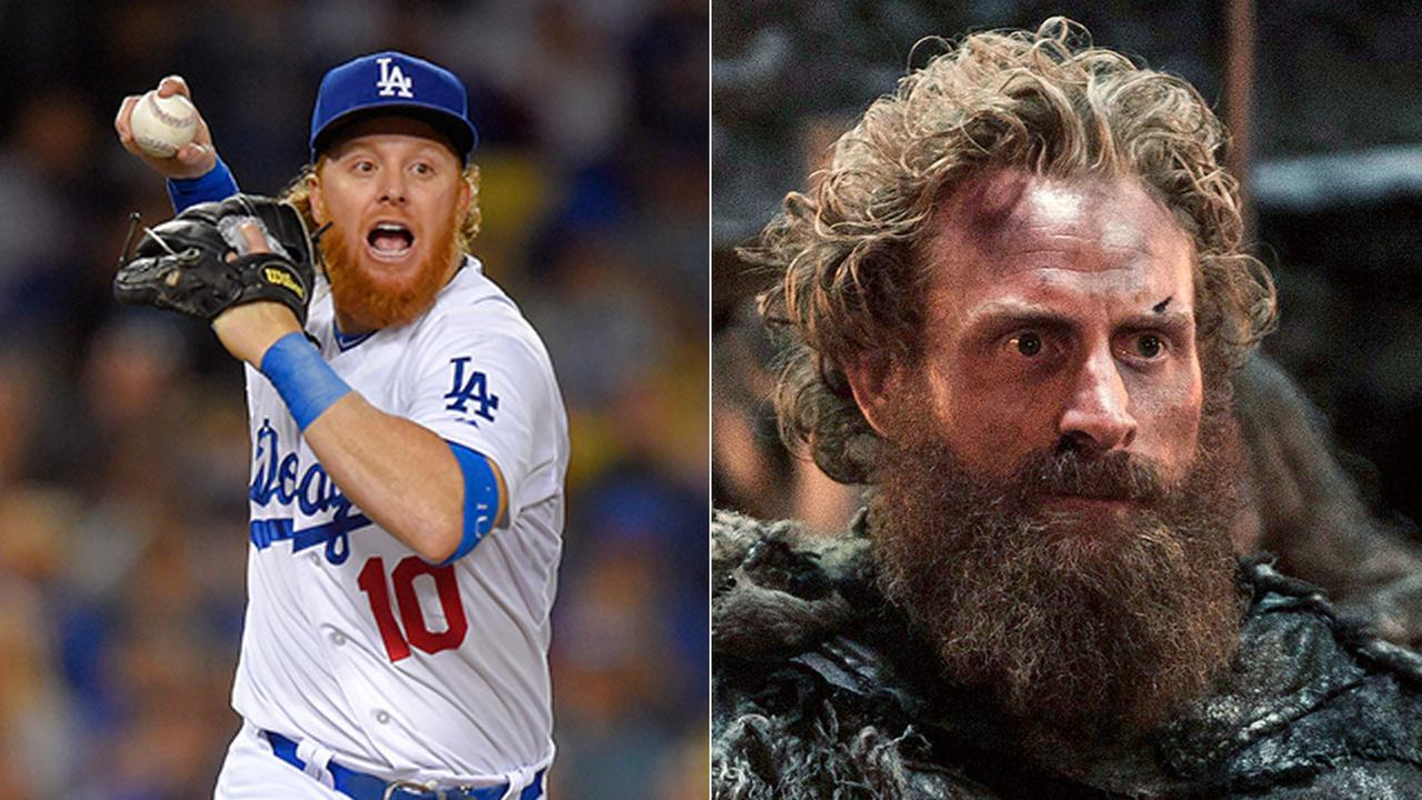 Justin Turner as the wildling Tormund.