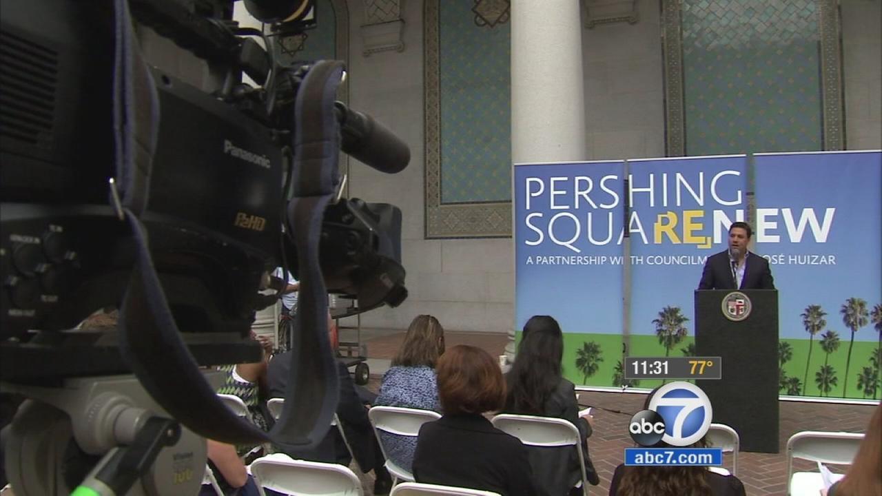 An international competition was launched Wednesday to redesign Pershing Square, a five-acre urban park and landmark in downtown Los Angeles.