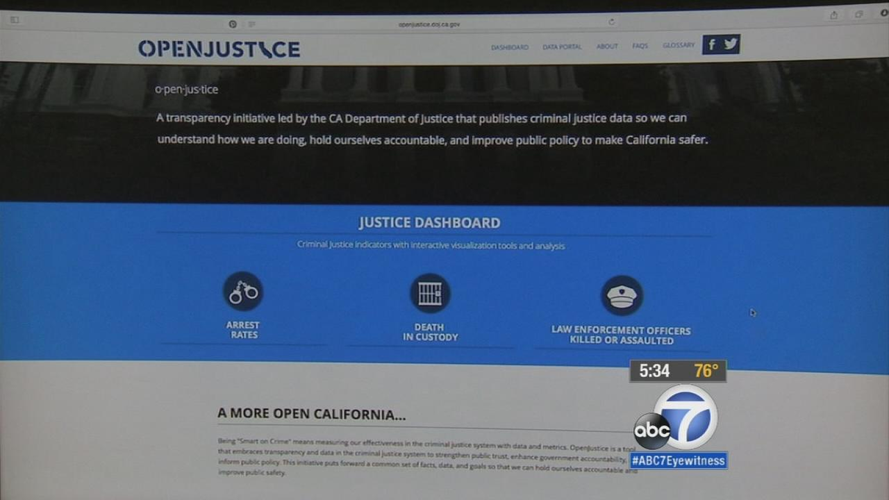 The California Department of Justice on Wednesday unveiled a state-run website to provide data on law enforcements interactions with the public in an attempt to improve transparency and government accountability.