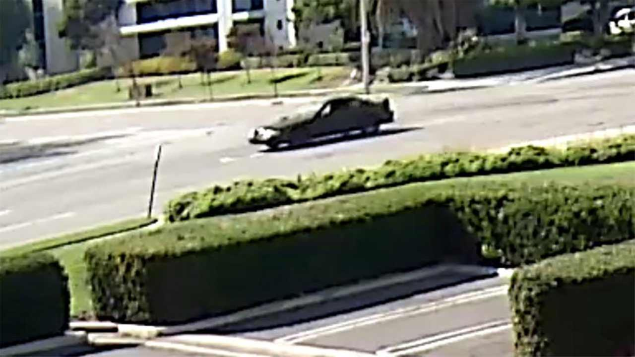 The driver of a black Ford Mustang is being sought in connection to a deadly street-racing crash near Rochester Avenue and Jersey Boulevard in Rancho Cucamonga.