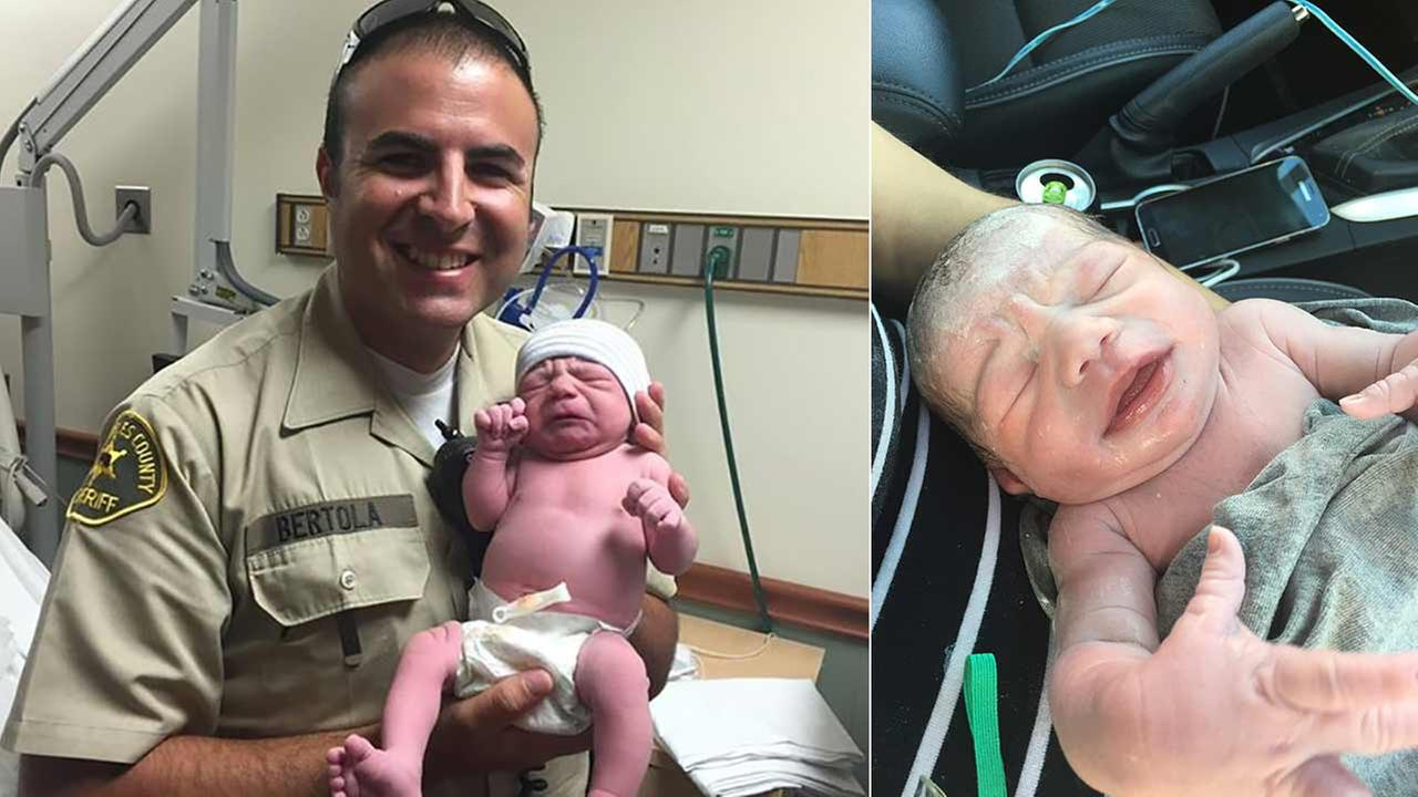 A Los Angeles County sheriffs deputy sprang into action Wednesday morning and helped deliver a baby girl in the parking lot of Santa Clarita car wash.