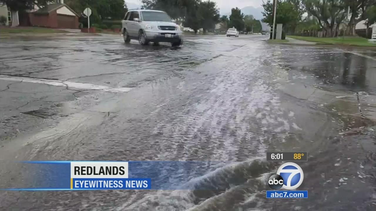 In spite of minor flooding in Redlands, the Inland Empire escaped mostly unscathed Thursday amid extreme heat and thunderstorms.