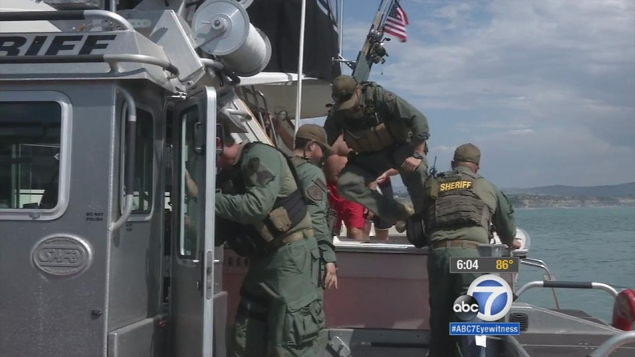 Orange County Sheriffs Harbor Patrol deputies have screened 300 boats for weapons of mass destruction, seized 800 pounds of marijuana and apprehended 75 undocumented immigrants.