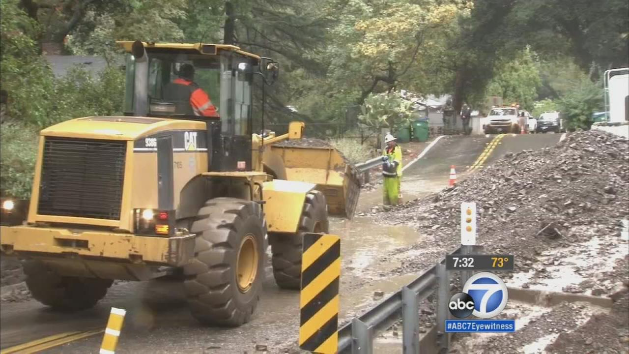 The September showers triggered some serious problems Tuesday in Orange County as mud flowed down parts of Silverado and Modjeska canyons, causing a big mess for homeowners.