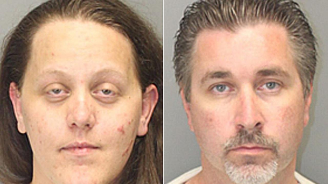 Emily Tardy, left, and Steven Crane, right, are seen in this mugshot photos.