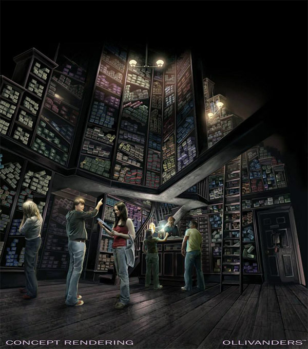 <div class='meta'><div class='origin-logo' data-origin='none'></div><span class='caption-text' data-credit='Universal Studios Hollywood'>An artist rendering shows the Ollivanders store at 'The Wizarding World of Harry Potter,' slated to open in spring 2016 at Universal Studios Hollywood.</span></div>
