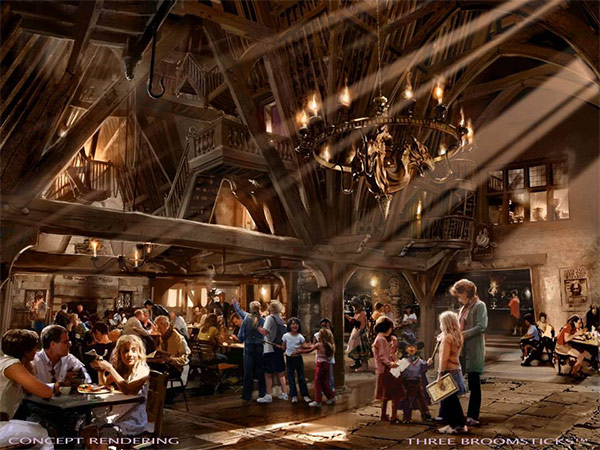 <div class='meta'><div class='origin-logo' data-origin='none'></div><span class='caption-text' data-credit='Universal Studios Hollywood'>An artist rendering shows the Three Broomsticks restaurant at 'The Wizarding World of Harry Potter,' slated to open in spring 2016 at Universal Studios Hollywood.</span></div>