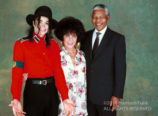 <div class='meta'><div class='origin-logo' data-origin='none'></div><span class='caption-text' data-credit='Harrison Funk/ALL RIGHTS RESERVED'>Michael Jackson, Elizabeth Taylor and Nelson Mandela are photographed in Los Angeles in 1993.</span></div>