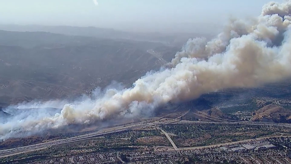 "<div class=""meta image-caption""><div class=""origin-logo origin-image kabc""><span>KABC</span></div><span class=""caption-text"">The Anaheim Fire and Rescue Department said the blaze, which has been dubbed the Canyon Fire 2, quickly spread Monday, triggering evacuations in the Anaheim Hills area. </span></div>"