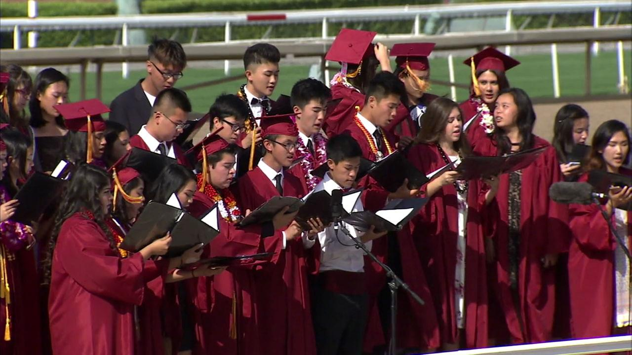 Students from Arcadia High Schools Class of 2017 are shown at their graduation on Thursday, June 8, 2017.