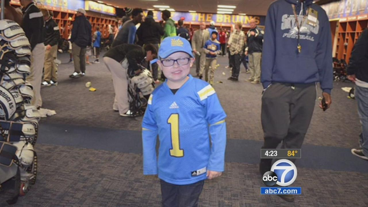 Legally blind 9-year-old boy an inspiration for UCLA Bruins