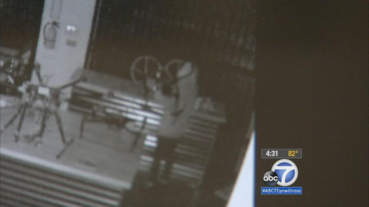 Thieves broke into a drone store in Studio City, making off with thousands in cash and merchandise, and the burglary was caught on camera.