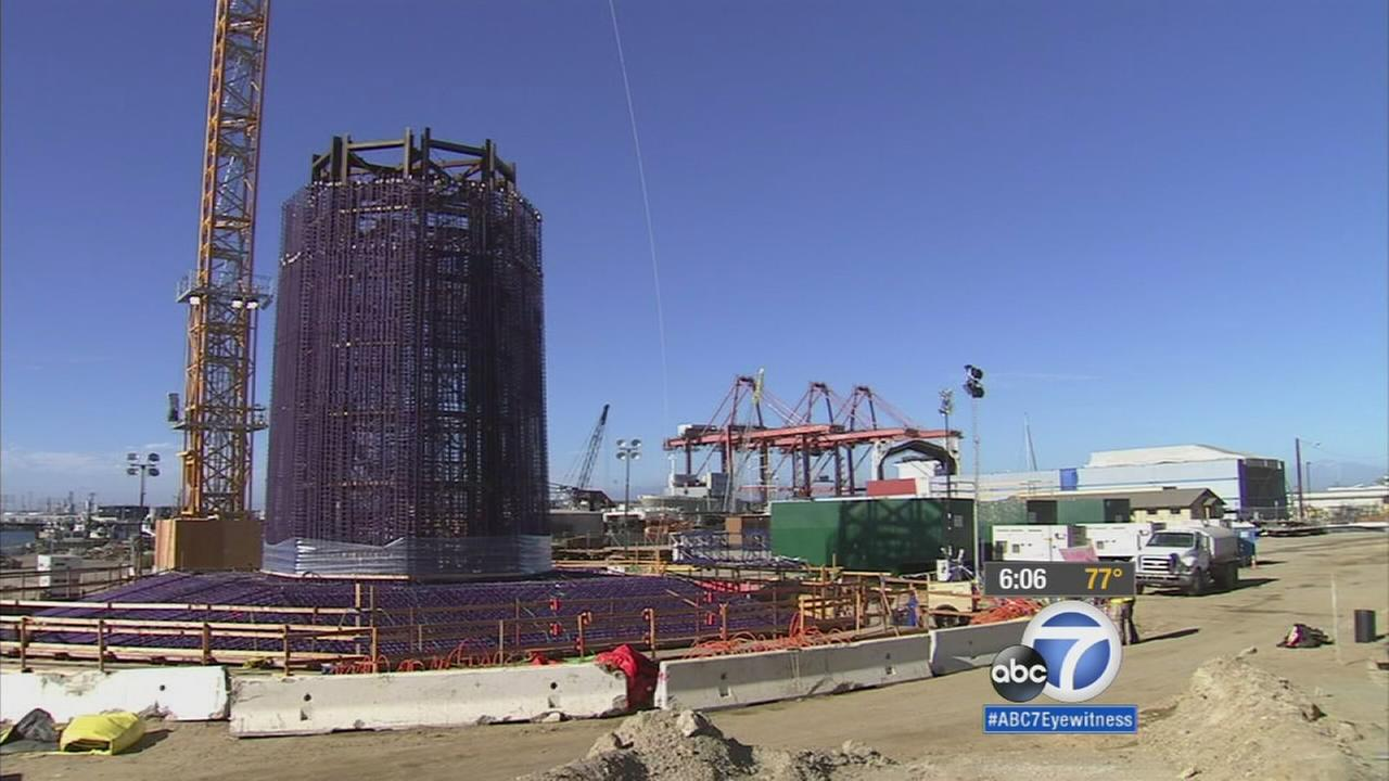 Its the making of a new landmark at the Port of Long Beach. Construction of the new Gerald Desmond Bridge reached a major milestone Monday.