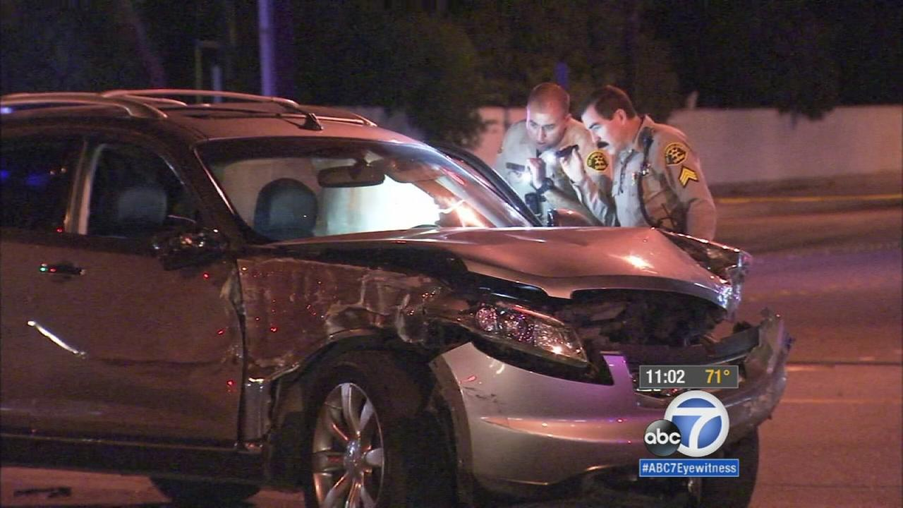 Azusa chase ends in crash; 5 victims sent to hospital