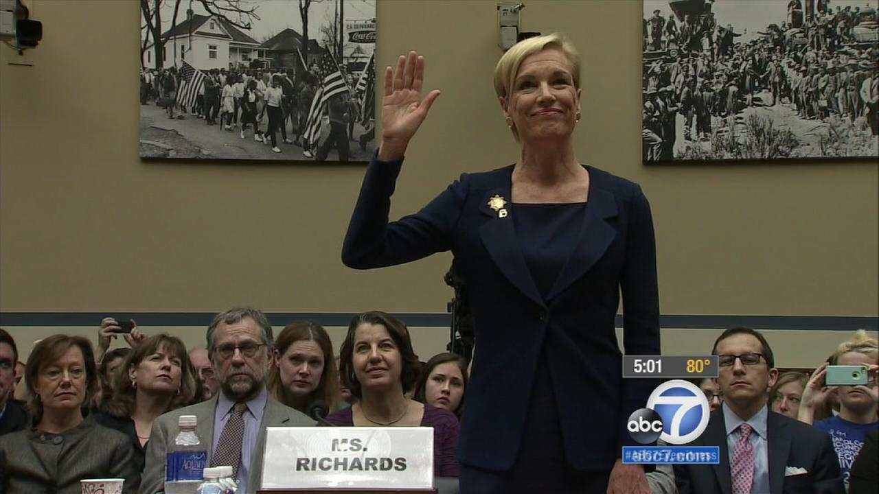 Planned Parenthood president testifies before Congress; supporters, opponents rally in LA