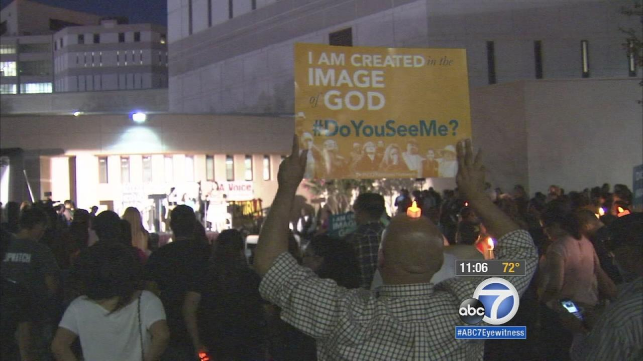 Pope Francis comments on prisons lead to demonstration in downtown LA