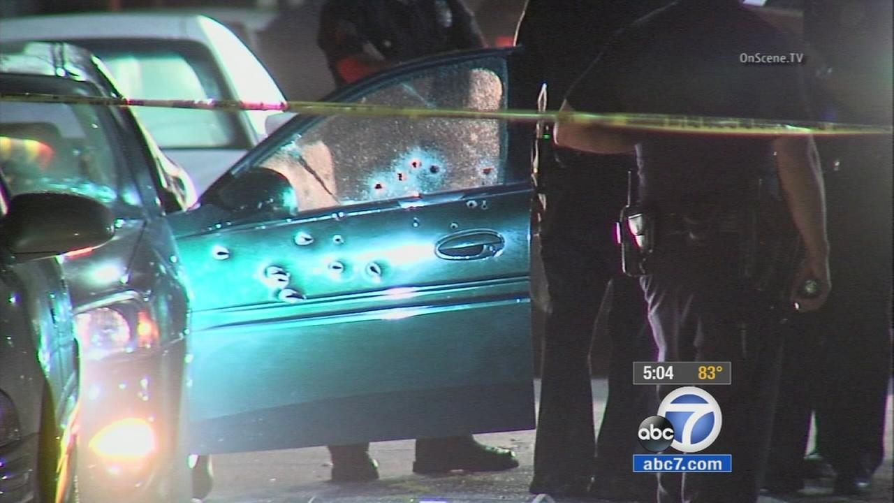 Woman injured after car riddled with bullets in Hyde Park