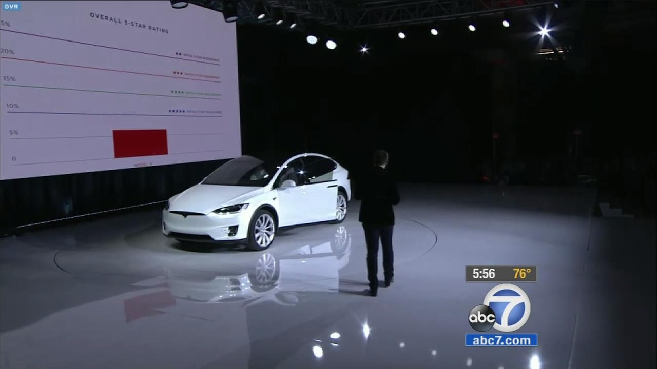 The Tesla is shown in the image above.