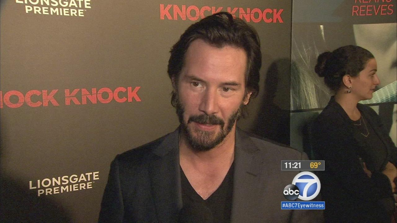 Knock Knock premieres in Hollywood