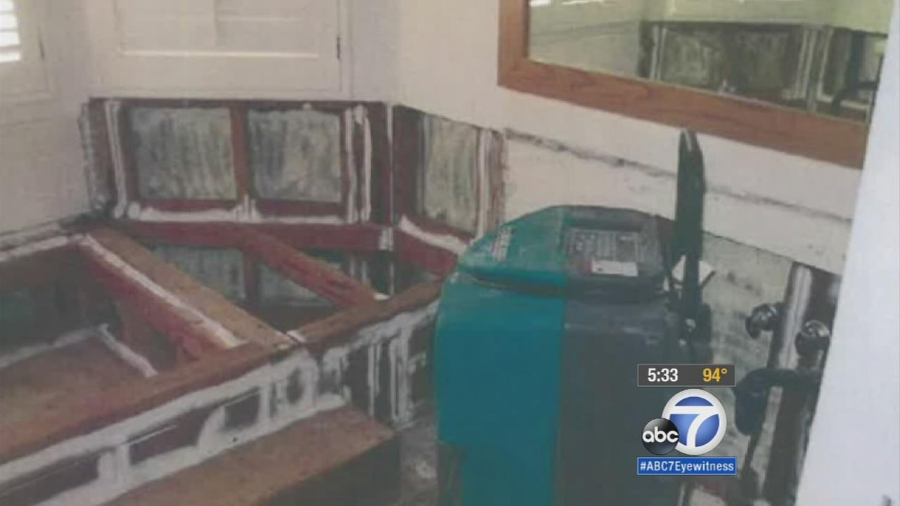 A Mission Viejo couple are suing State Farm Insurance and two other companies after they say the companies neglected to properly take care of their home after flood damage in 2013.