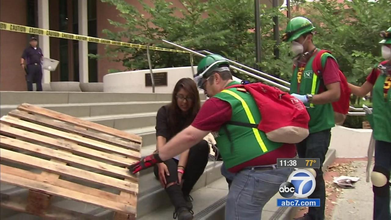 Millions of Californians participated in the Great ShakeOut drill on Thursday, Oct. 15, 2015.