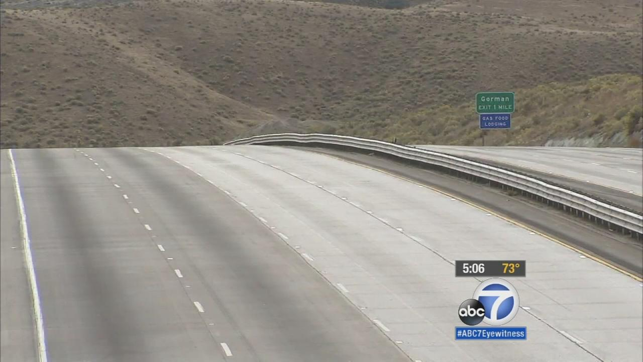 The empty Interstate 5 in the grapevine is shown in a photo from Friday, Oct. 16, 2015.