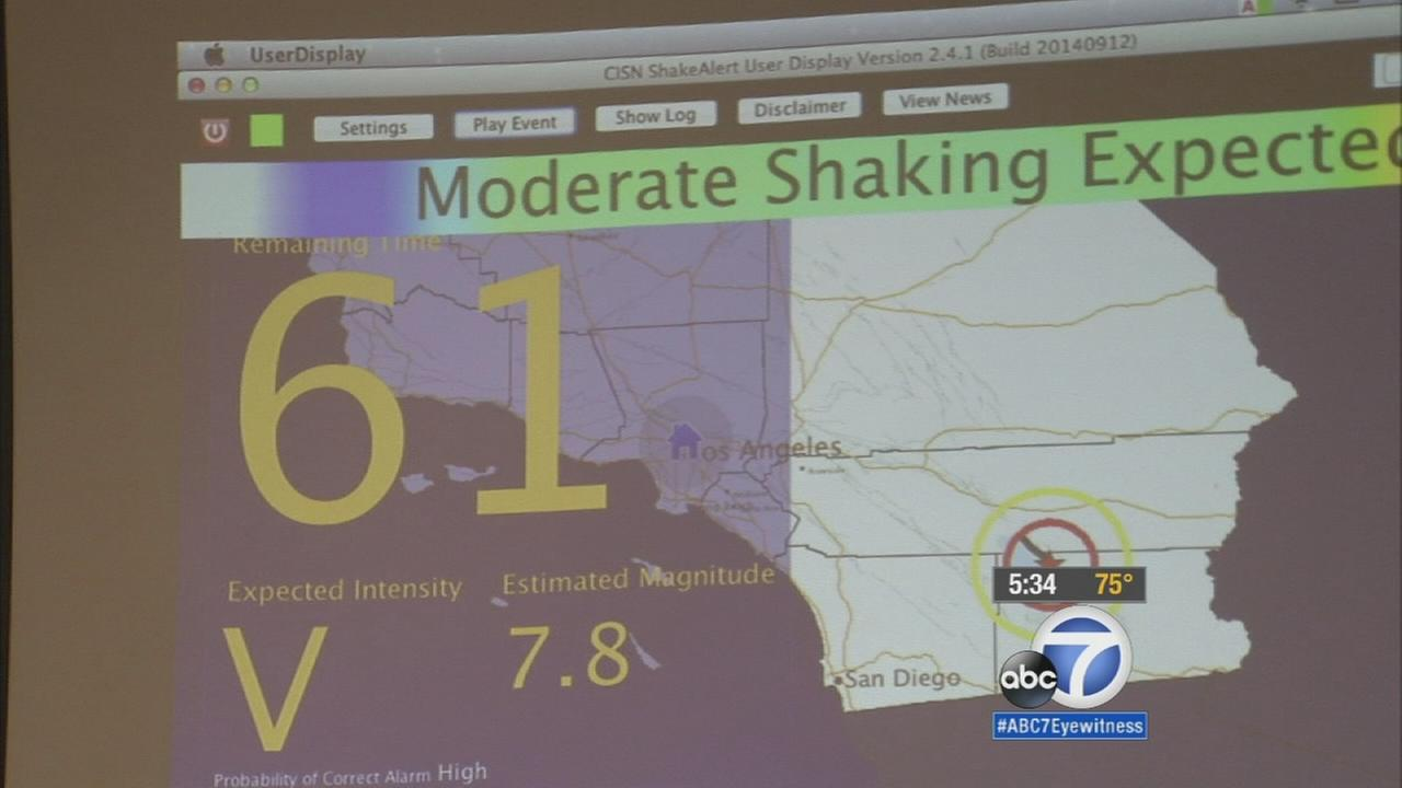 Eagle Rock High School gets earthquake early warning system