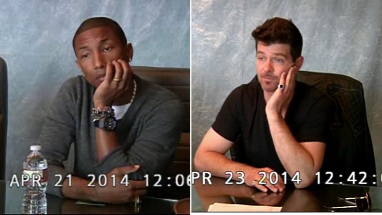 interviews of pharrell williams robin thicke used in blurred interviews of pharrell williams robin thicke used in blurred lines trial released com