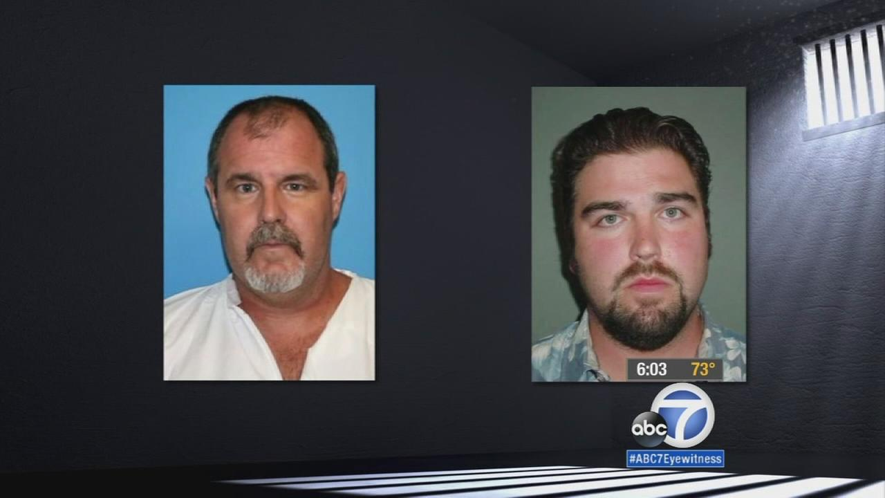 Photos of Scott Dekraai (left) and Daniel Wozniak (right), whose cases are at the forefront of an Orange County jailhouse informant scandal.
