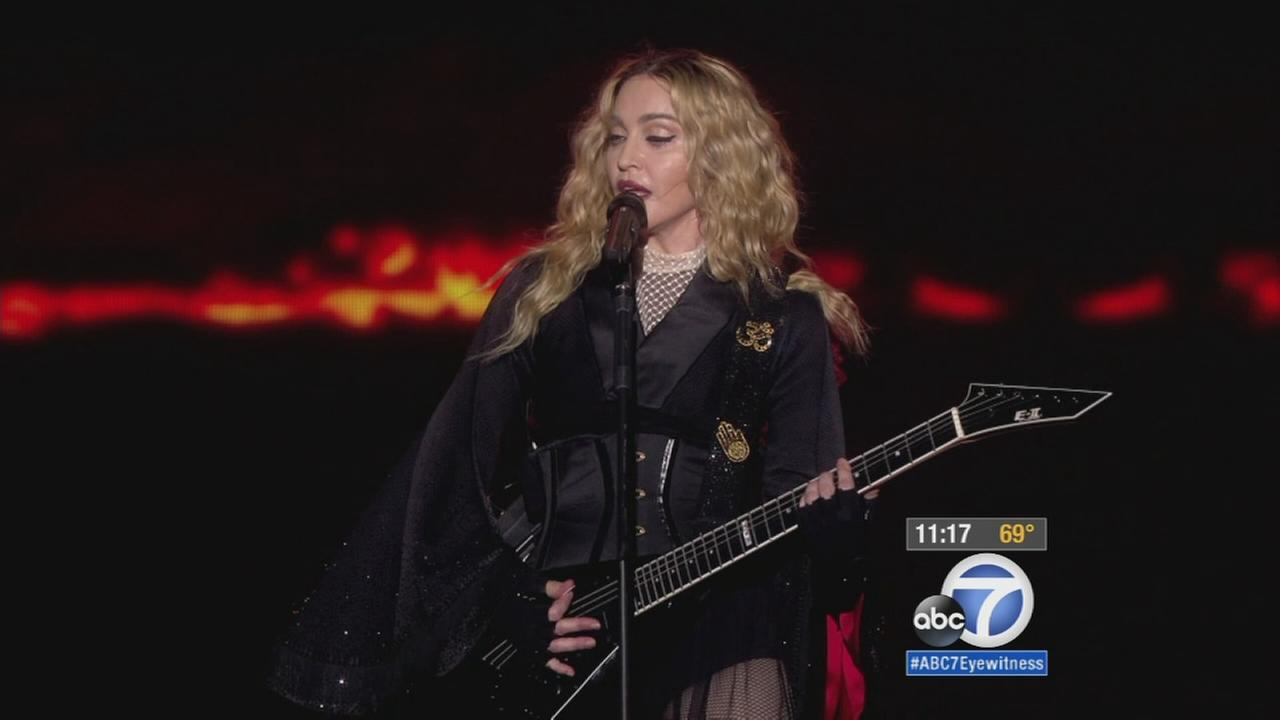 Madonna fans pack into Forum for 1-night-only concert