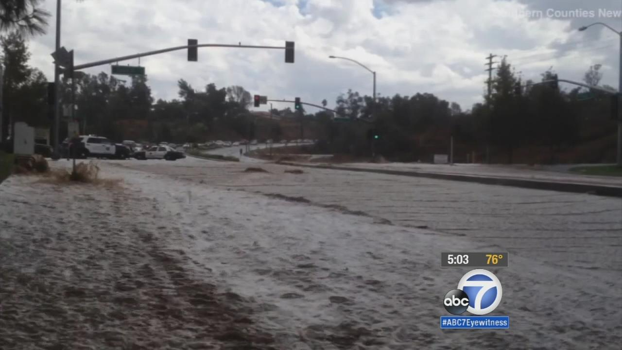 File photo of flash flooding in Southern California.