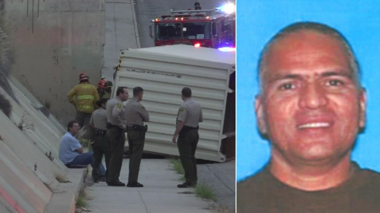 Robert Castorena, 51, of Long Beach, is shown in a DMV photo. He was crushed to death by a cargo container that slid off a flatbed truck on Wednesday, Oct. 28, 2015.