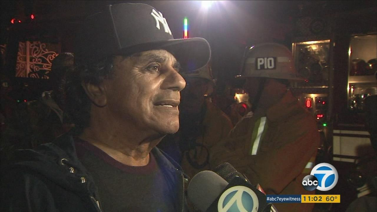 Fire tears through singer Johnny Mathis Hollywood Hills home