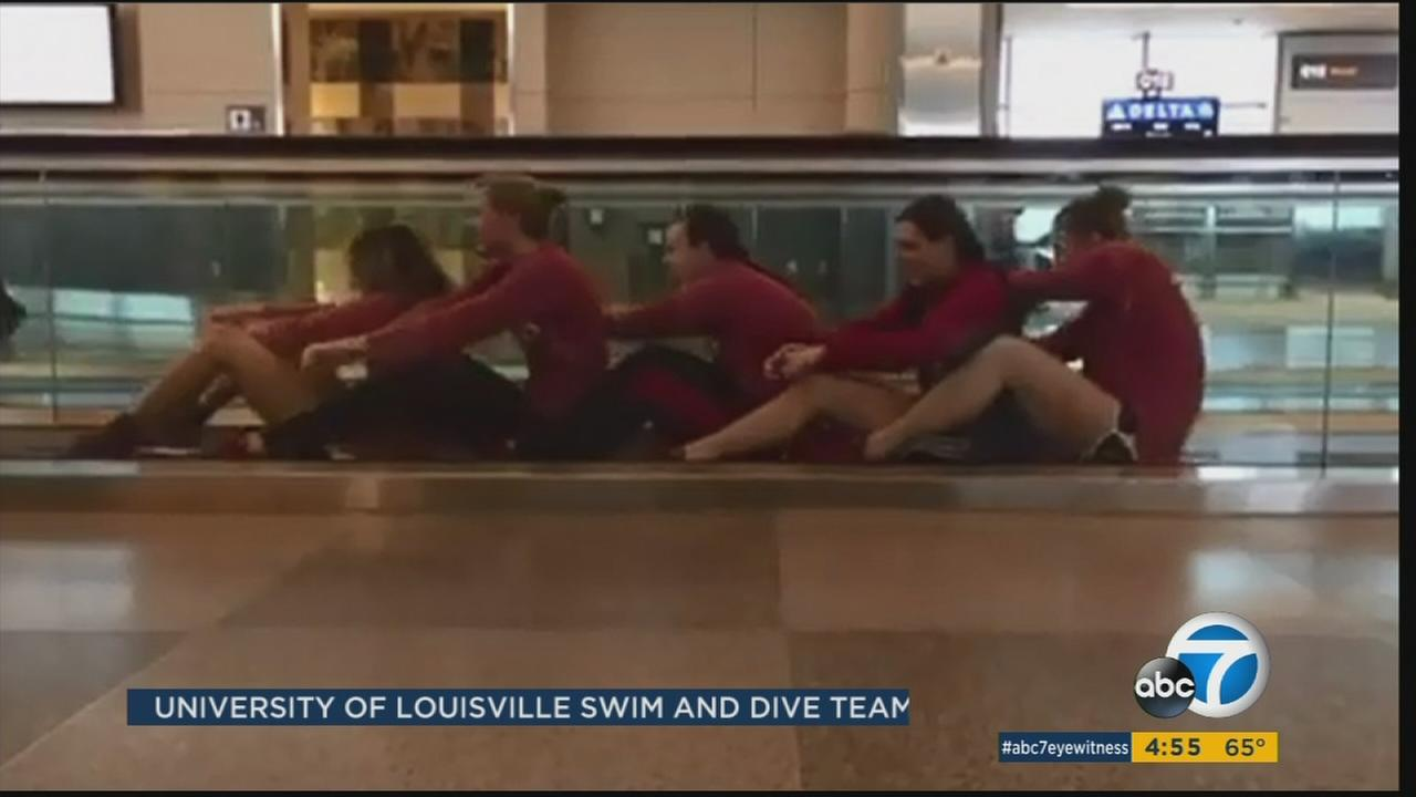 University Of Louisville Swim Team Creates Viral Video At North Carolina Airport