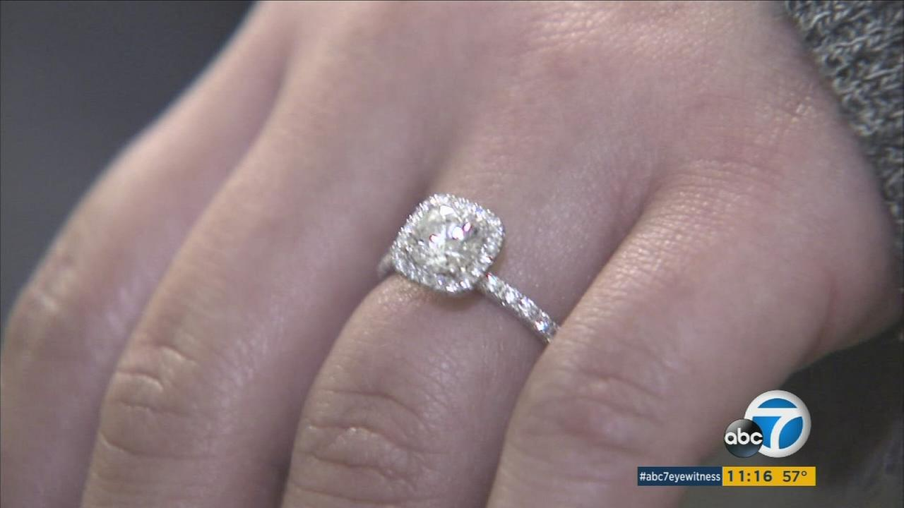 The Jurupa Community Services District saved Carissa Wolters engagement ring and earrings from the sewer on Tuesday, Nov. 10, 2015.