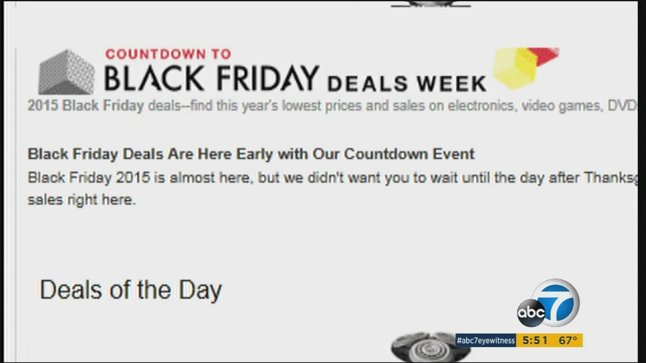 A section of the website Early Black Friday is shown in a photo.