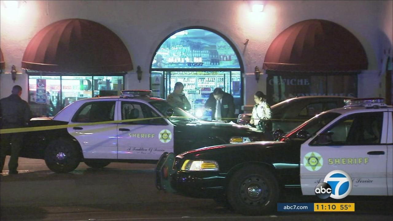 A Good Samaritan was killed while trying to help a store clerk during a robbery at a Paramount liquor store on Monday.