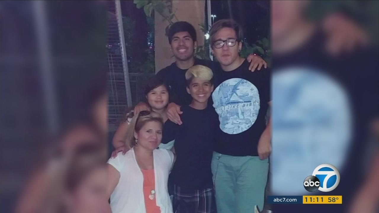 Luis Corrales poses with his family. Corrales was shot and killed in Anaheim on Sept. 20, 2015.