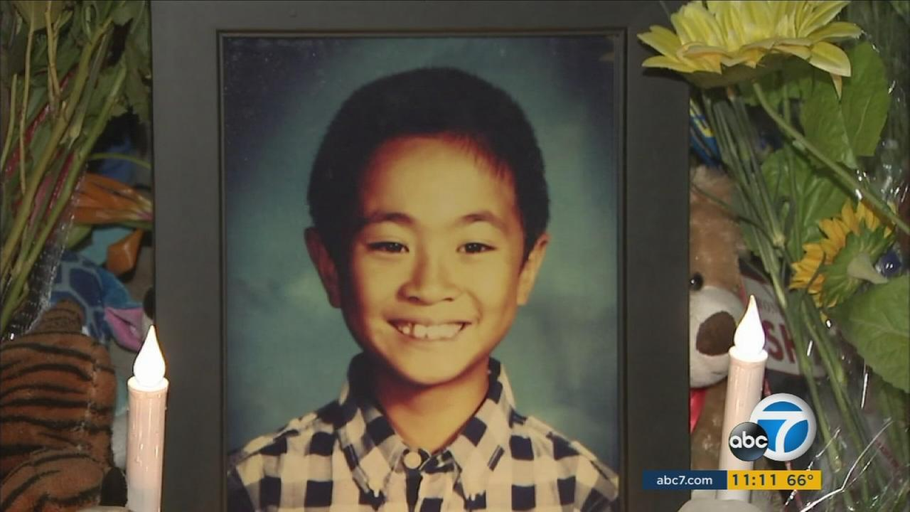 Kevin Jiang, 9, was hit and killed by a van in Irvine while riding his bike on Friday, Nov. 20, 2015.