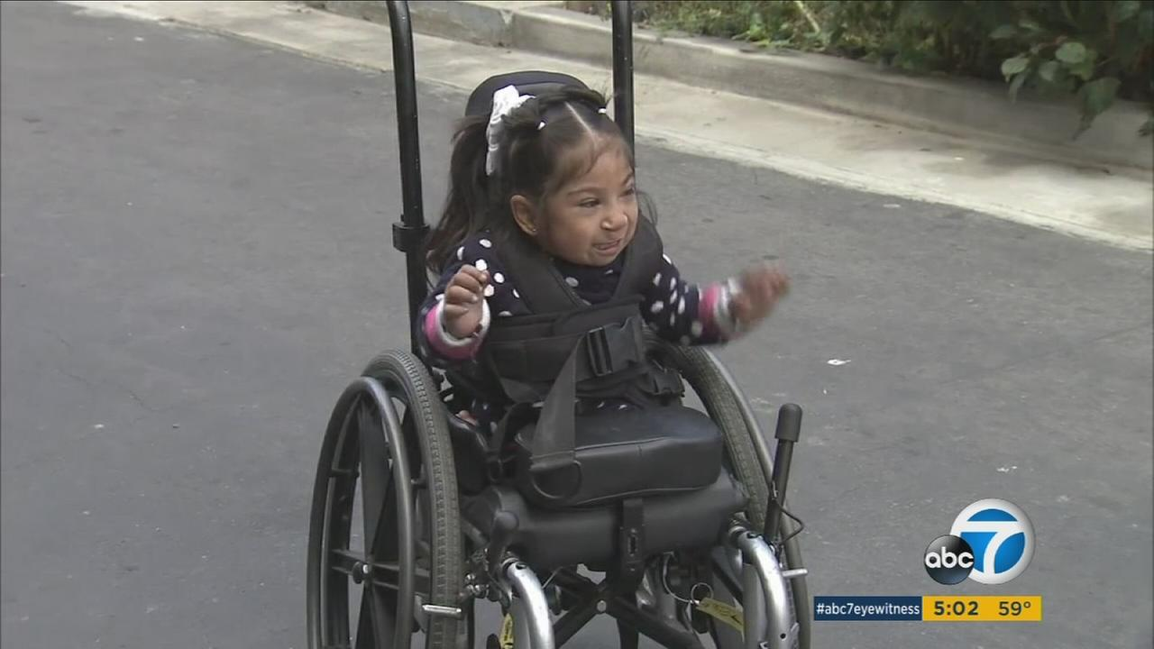 A customized wheelchair was mysteriously returned to a Santa Ana girl born without legs, two days after it was stolen from her familys Santa Ana apartment.