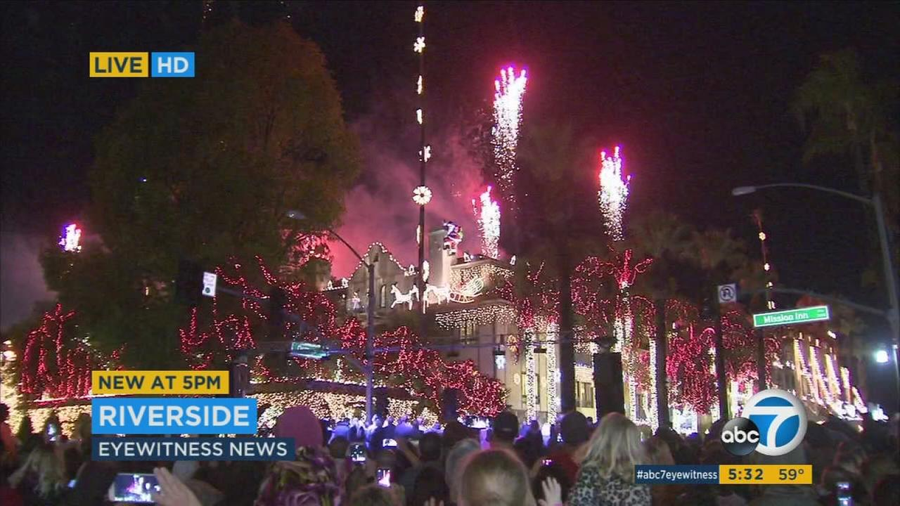 Spirits shined bright at the 23rd annual Festival of Lights in Riversides historic Mission Inn on Friday.