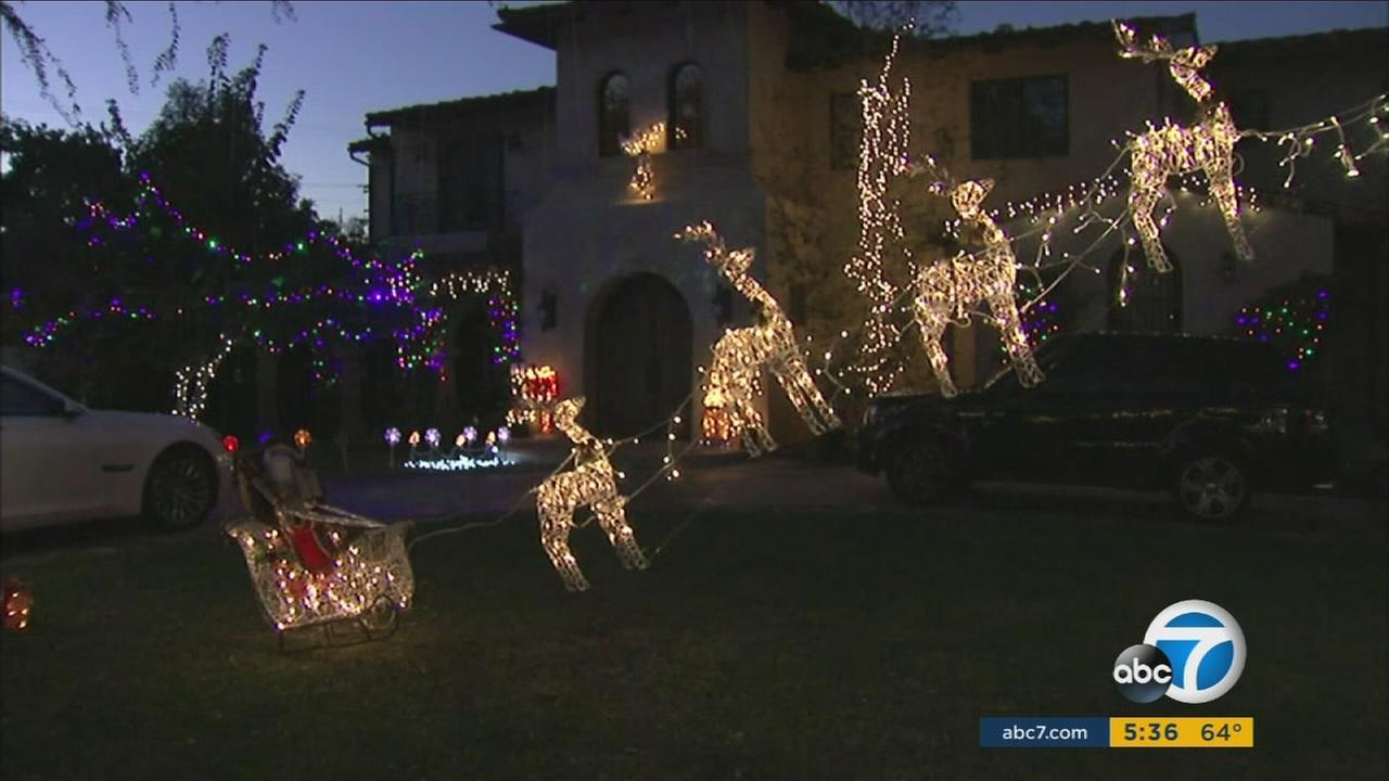 A lights display in a Torrance neighborhood is causing traffic problems.