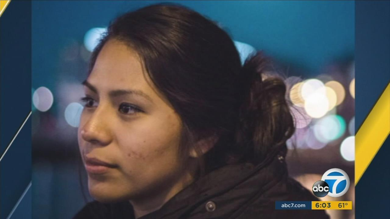 Nohemi Gonzalez, 23, is shown in an undated photo taken in Paris before she was killed on Nov. 13.
