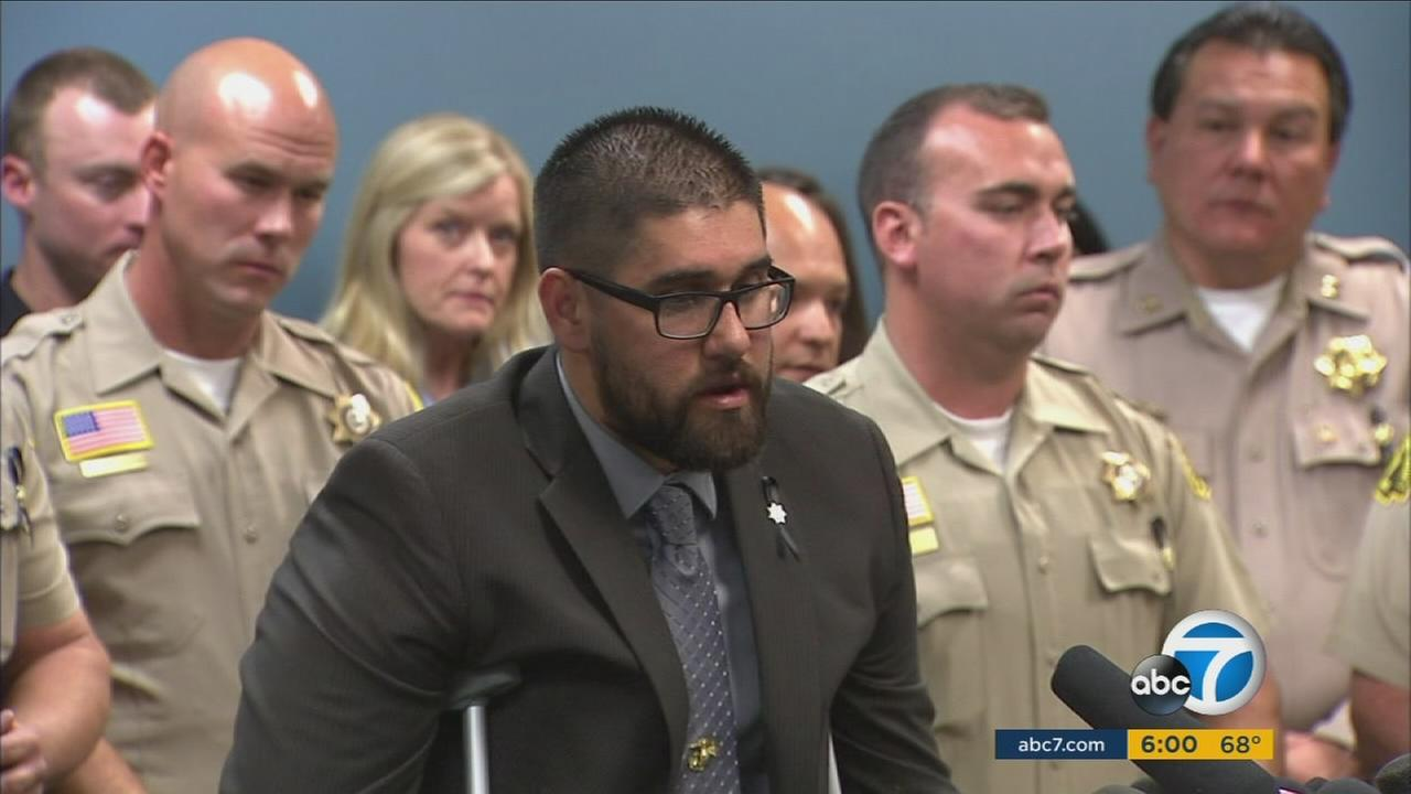 Officer Nicholas Koahou, one of the authorities injured in the San Bernardino terror attack, recalls his experience as he responded to the shooting.