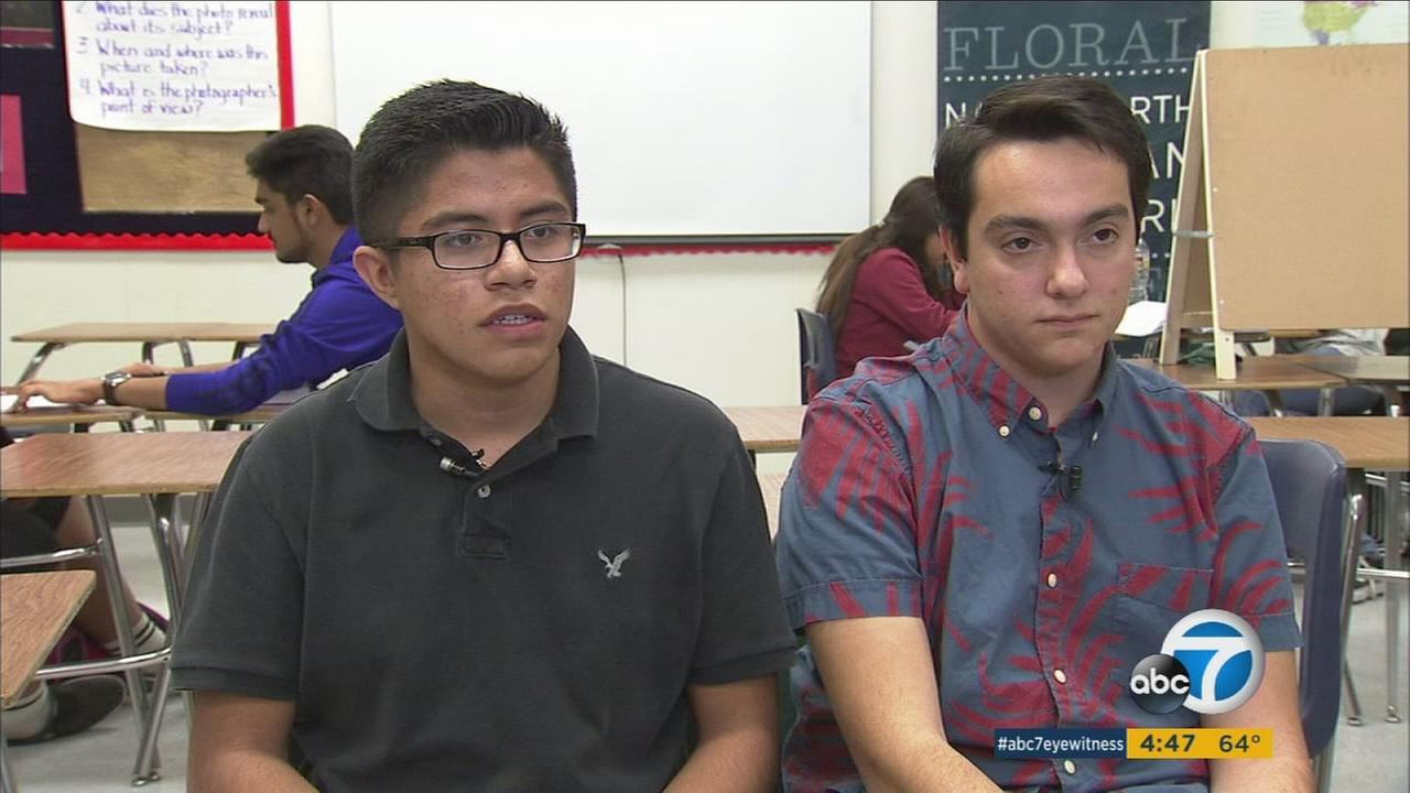 Cool kids Andrew and Justin talk about their efforts to improve education in Pico Rivera.