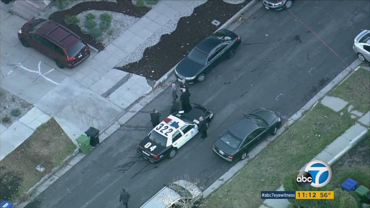An off-duty Los Angeles police officer shot a man who officials say confronted the officer with a gun in Monterey Hills on  Monday, Dec. 14, 2015.