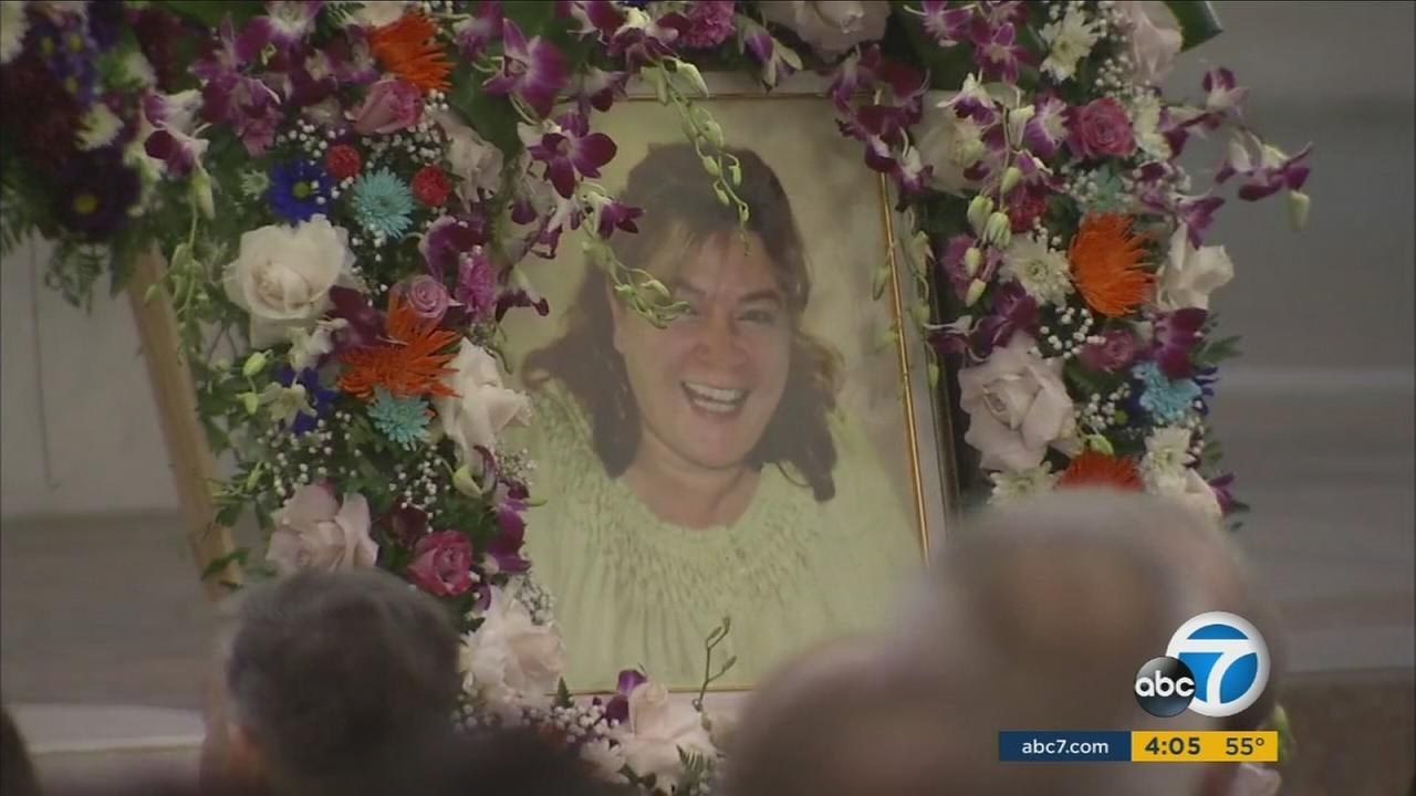 The funeral service for Bennetta Bet-Badal, who was killed in the San Bernardino terrorist attack, was held in Rancho Cucamonga on Monday, Dec. 14, 2015.