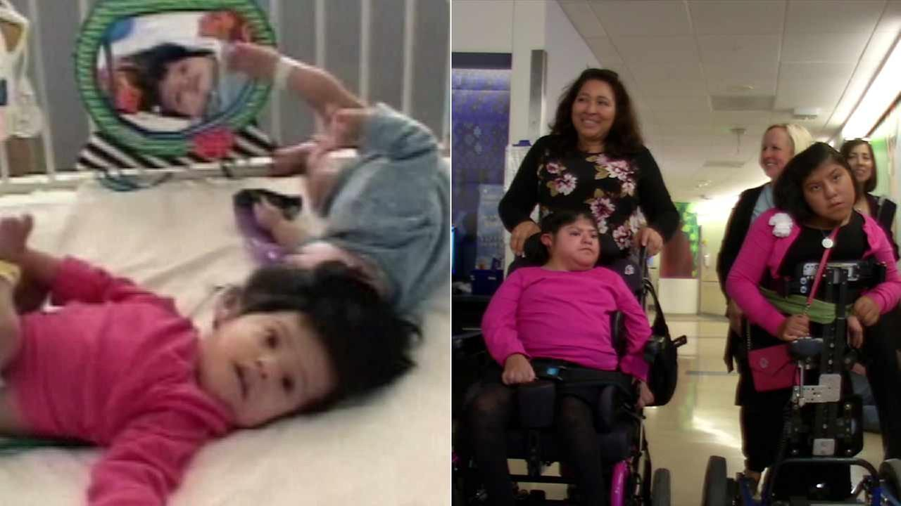 It was a special holiday reunion for formerly conjoined twins Josie and Teresita Alvarez, who saw some of the UCLA hospital staff for the first time since their 2002 surgery.