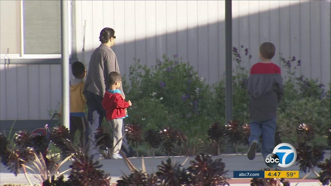 Students were sent home from the Los Angeles Unified School District after a threat was made on Tuesday, Dec. 15, 2015.