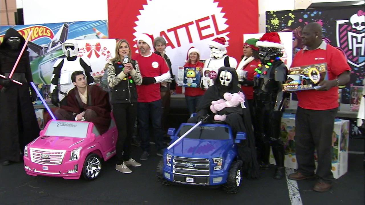 Representatives from Mattel brought some Star Wars excitement to our Stuff-A-Bus toy drive at the Honda Center in Anaheim on Friday, Dec. 18, 2015.